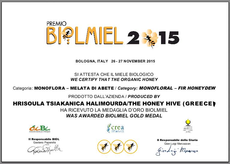 biolmiel 2015 gold